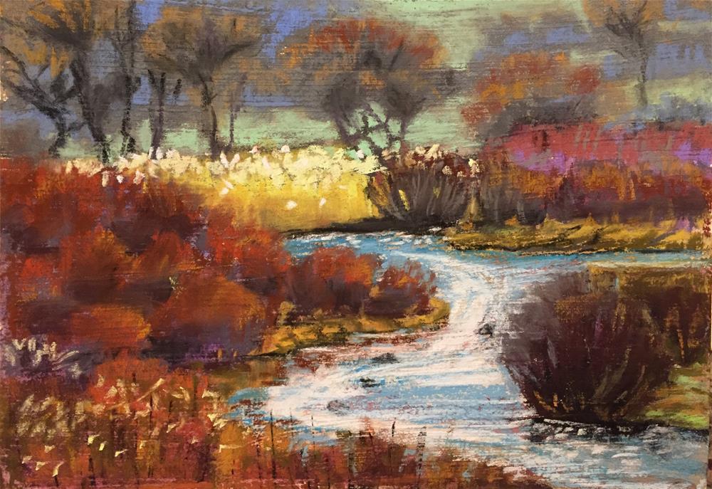 """Fall sparkles"" original fine art by Natasha Ramras"