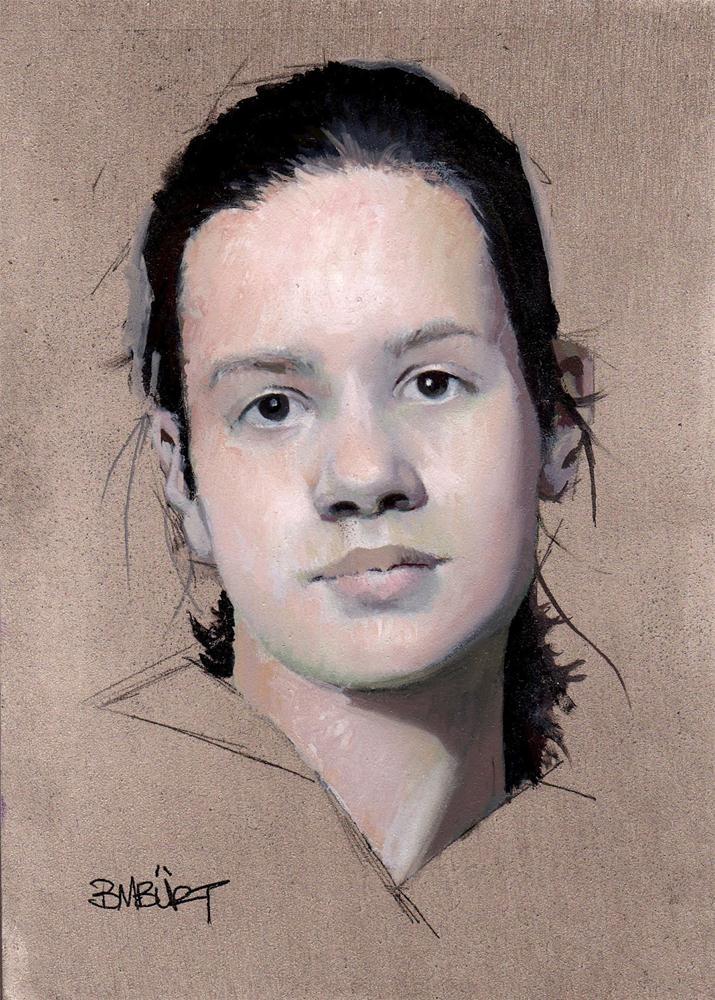 """#282  Head Study"" original fine art by Brian Burt"