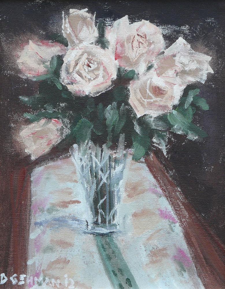 """Silver Roses"" original fine art by Dave Gehman"