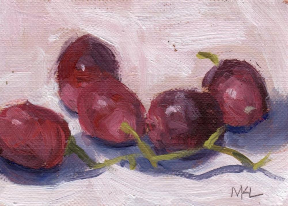 """""""Cluster of Grapes"""" original fine art by Marlene Lee"""