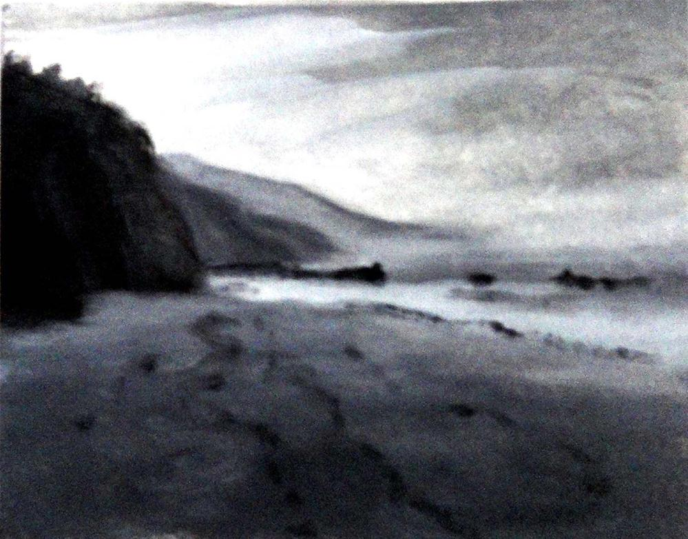 """Beach--Value Study"" original fine art by Cietha Wilson"