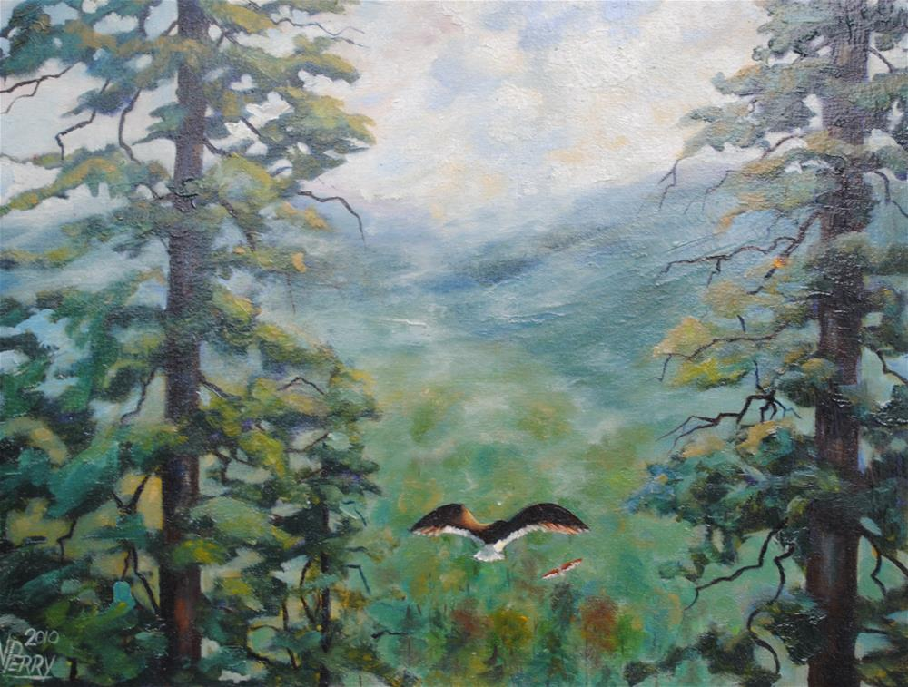 """Updraft"" original fine art by Nan Perry"