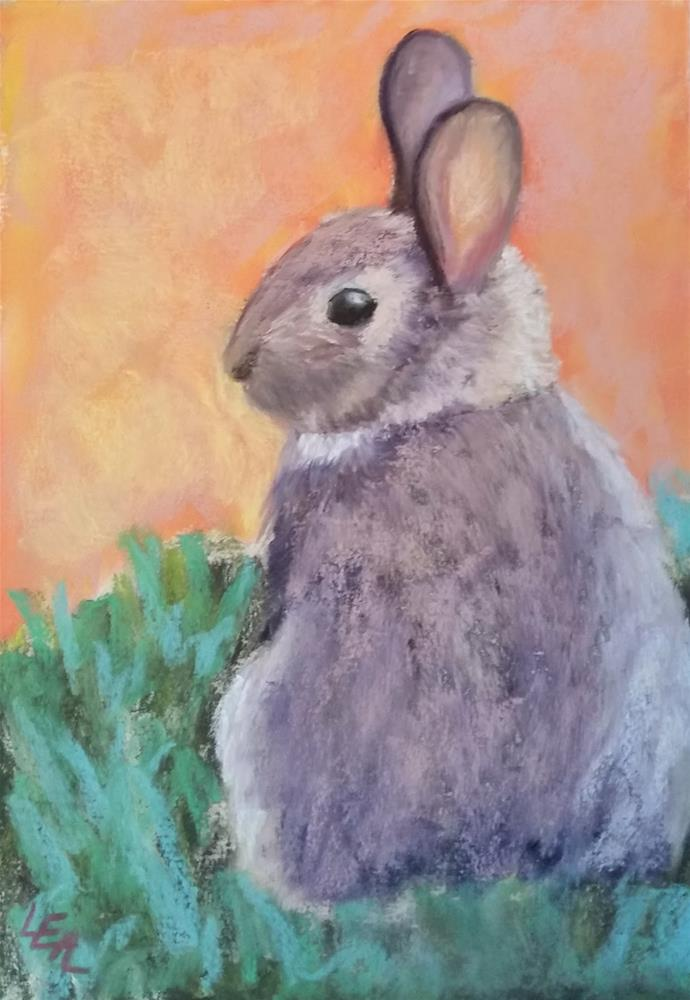 """Cottontail Cutie"" original fine art by Anna Lisa Leal"