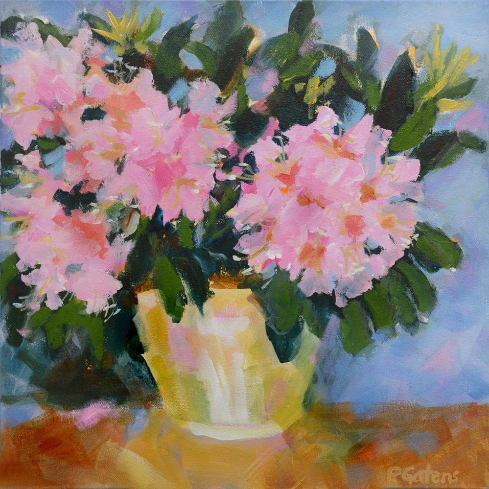 """Blushing Rhodies"" original fine art by Pamela Gatens"