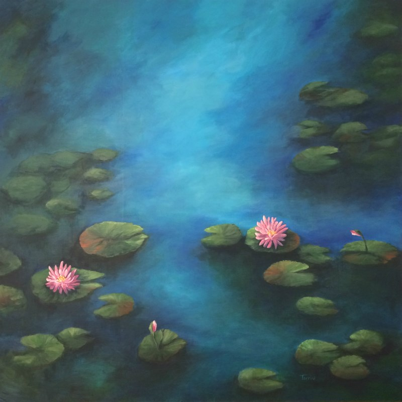 """Porch Water Lilies"" original fine art by Torrie Smiley"