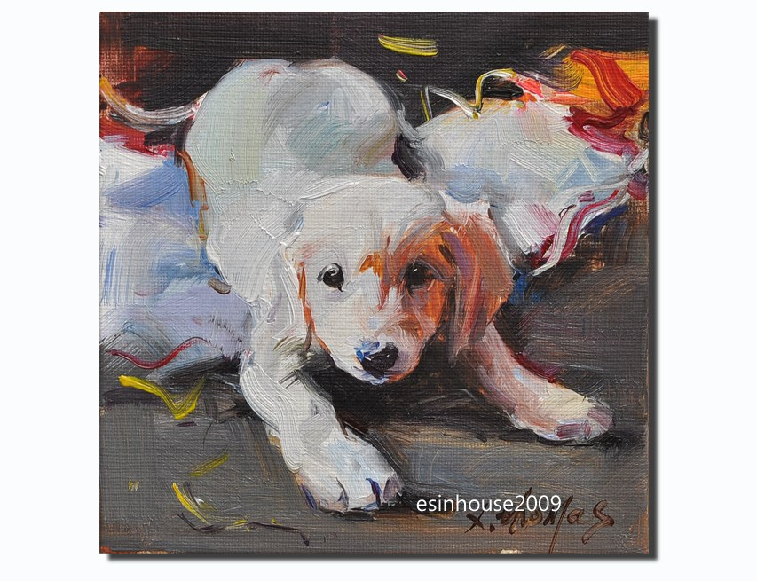 """dog"" original fine art by Thomas Xie"