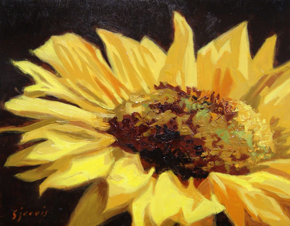 """Queen of the Sun"" original fine art by Susan N Jarvis"