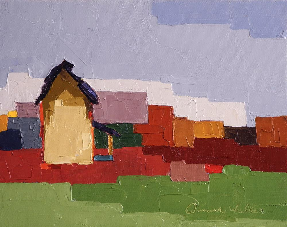 """Patchwork Home"" original fine art by Donna Walker"