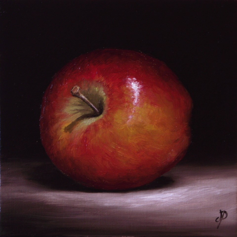 """Braeburn Apple"" original fine art by Jane Palmer"