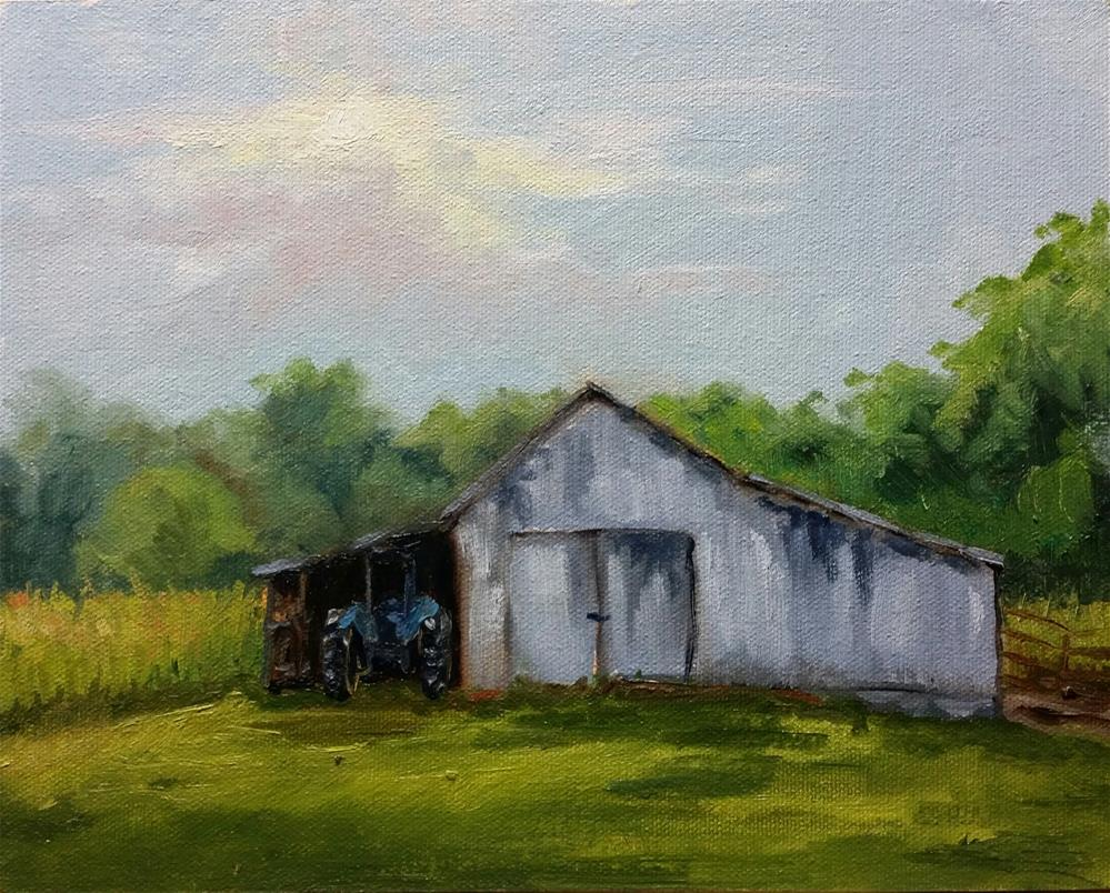 """The Long 1-en plein air"" original fine art by Veronica Brown"