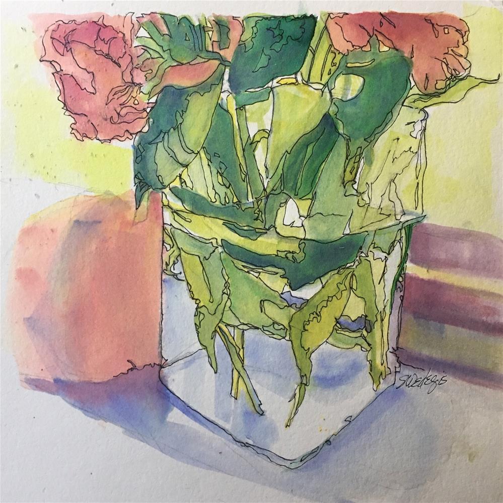 """Floral"" original fine art by Sheila Wedegis"