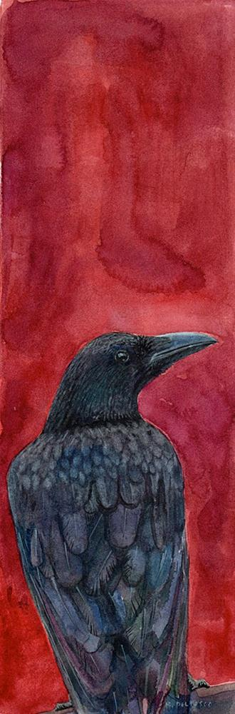 """Watercolor: Pssst, are you gonna eat that last French Fry?"" original fine art by Belinda Del Pesco"