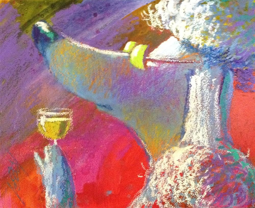 """This Wine Has a Very Nice Nose.  Like Mine!"" original fine art by Jeff Leedy"