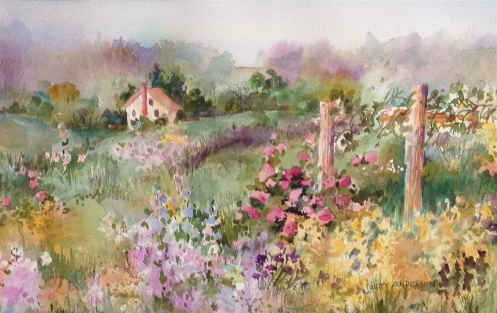 """Springton Manor Garden"" original fine art by Libby Anderson"