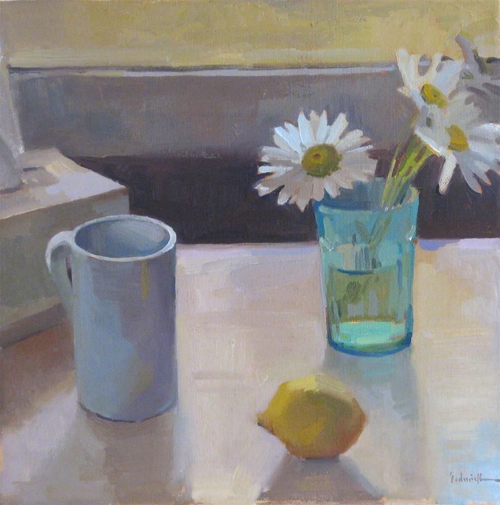 """West Light Daisies"" original fine art by Sarah Sedwick"