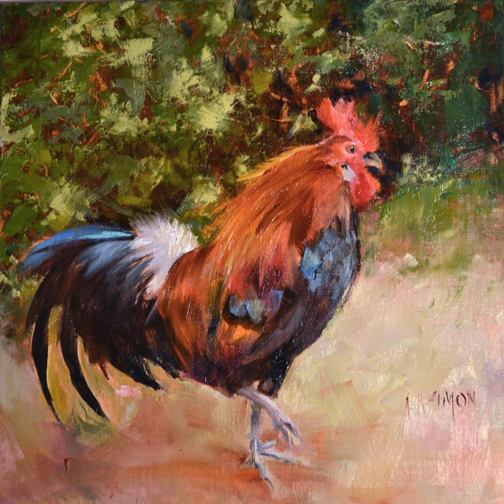 """Delaware Blue Hen Chicken"" original fine art by A.K. Simon"