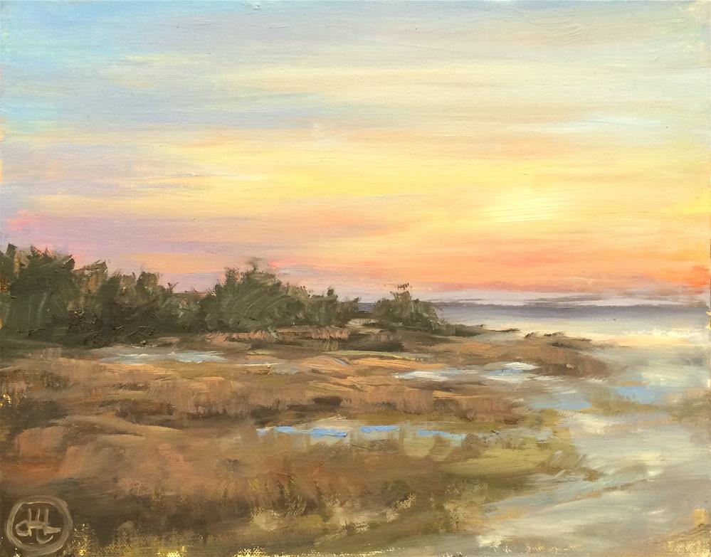 """edisto sunset"" original fine art by Dottie  T  Leatherwood"