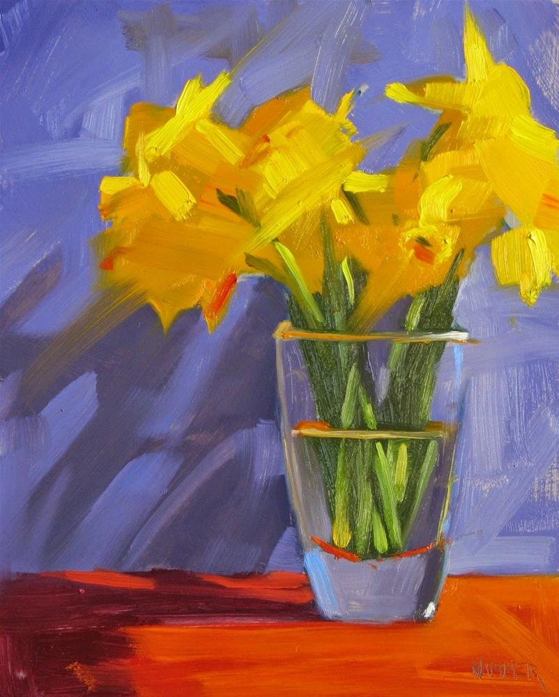 """Bouquet of Daffodils 10 x 8  oil"" original fine art by Claudia Hammer"