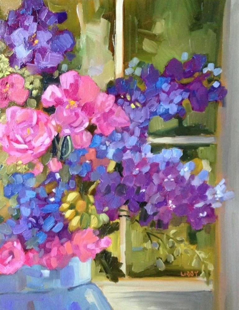 """Spring Window"" original fine art by Libby Anderson"