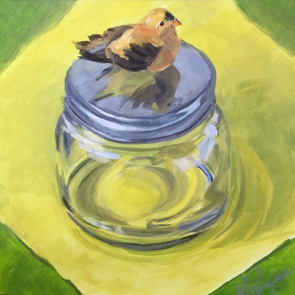 """Expecting to Fly"" original fine art by Mary Pargas"