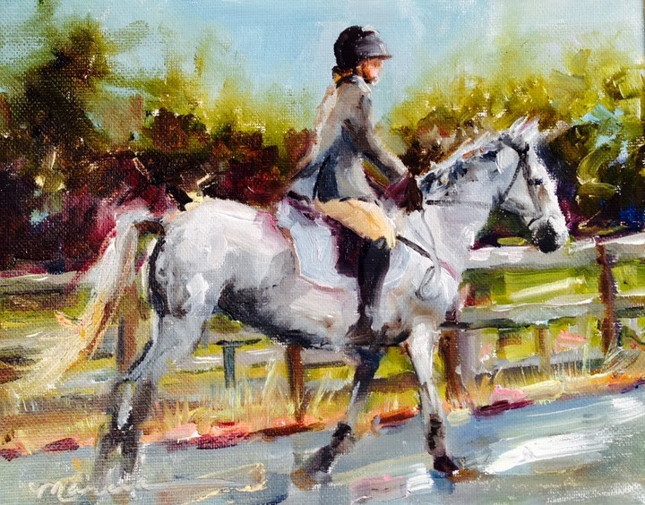 """Lizzie"" original fine art by Marcia Hodges"
