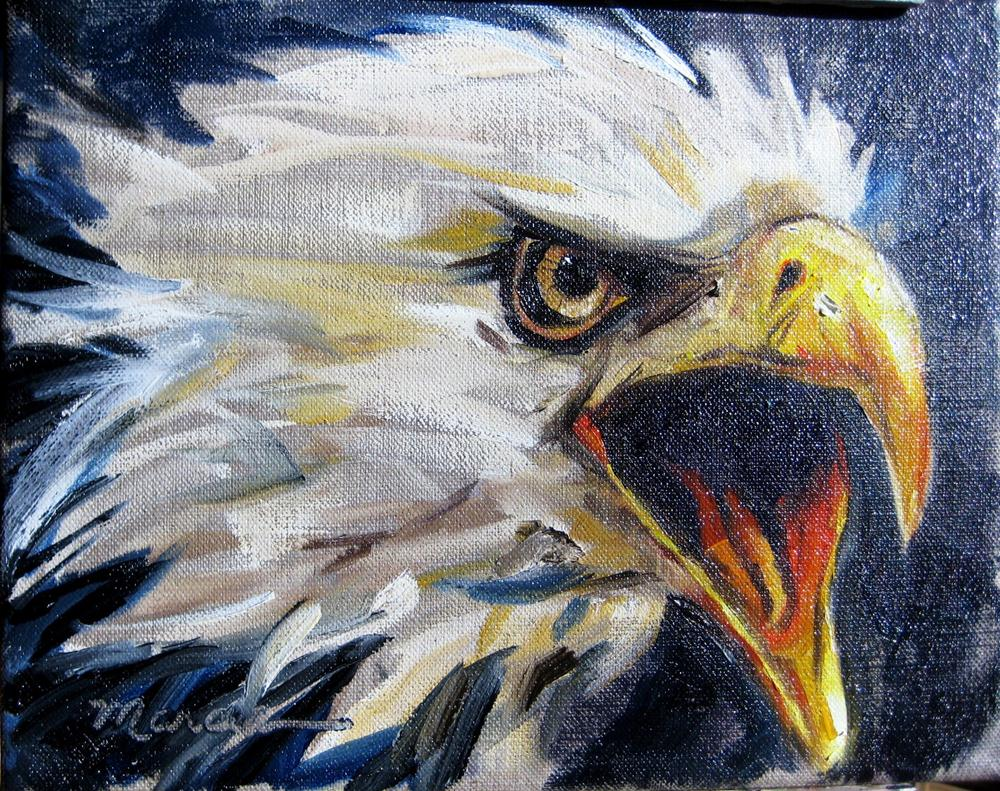 """War Eagle"" original fine art by Marcia Hodges"