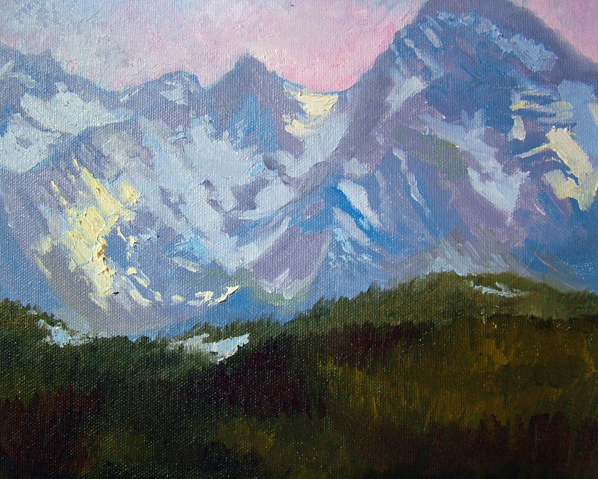 """""""Telluride Mountains in the Snow!"""" original fine art by Nancy Paris Pruden"""