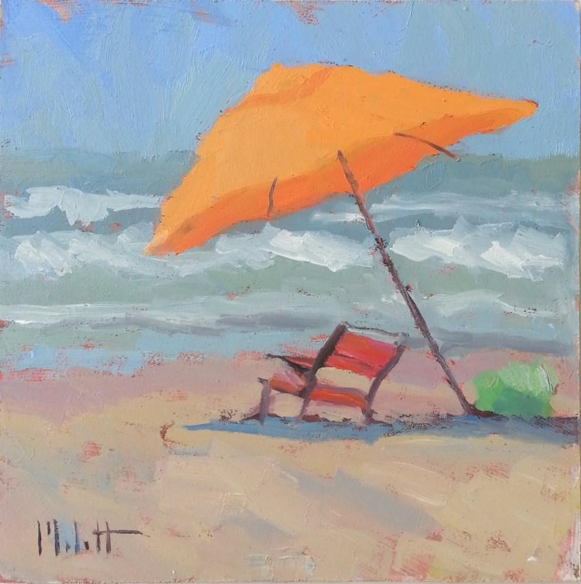 """Beachside Original Oil Painting"" original fine art by Heidi Malott"