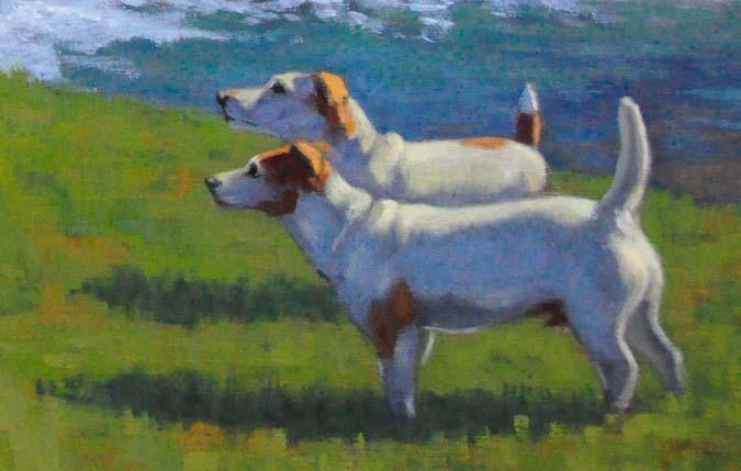 """""""Luke and Jake"""" original fine art by Susan Matteson"""