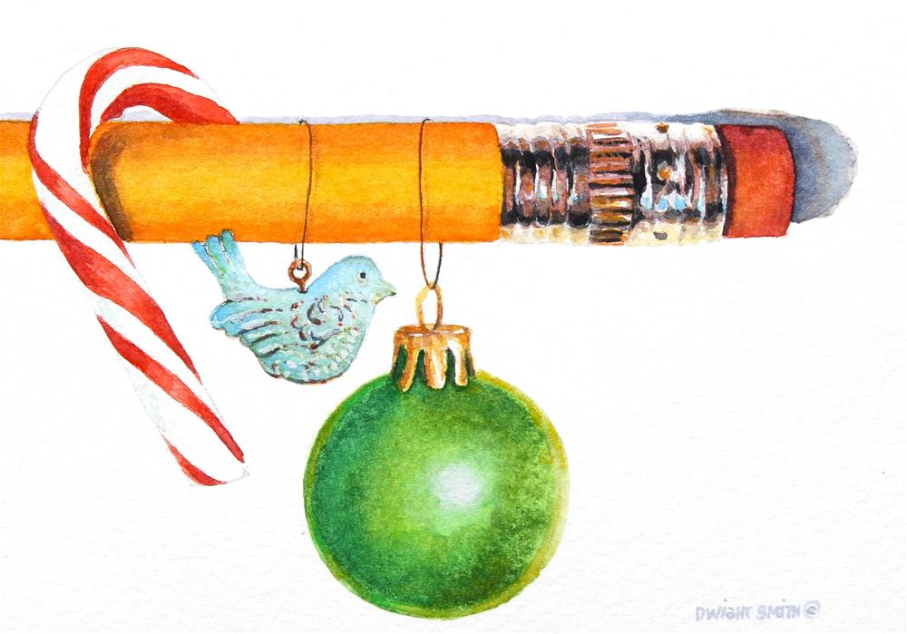 """"""" CHRISTMAS THOUGHTS """" original fine art by Dwight Smith"""