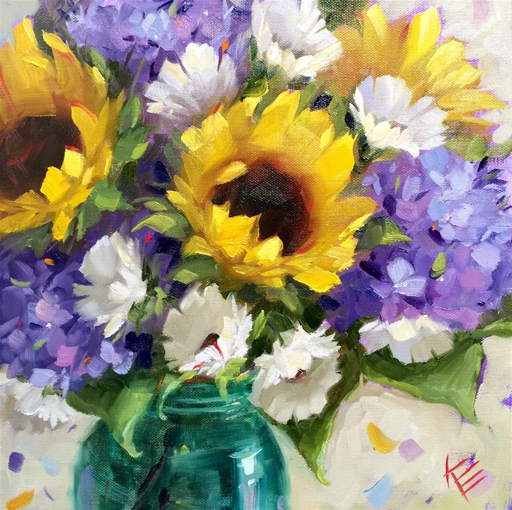 """""""Joyful Occasion """" original fine art by Krista Eaton"""