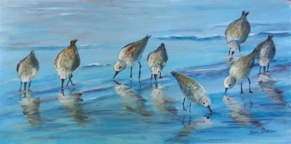 """Sandpipers"" original fine art by Sissy Blakslee"