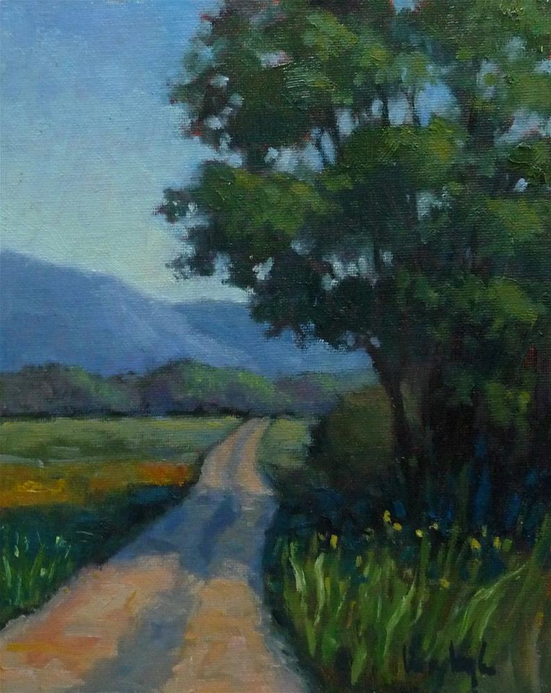 """Road in Provence"" original fine art by Lisa Kyle"