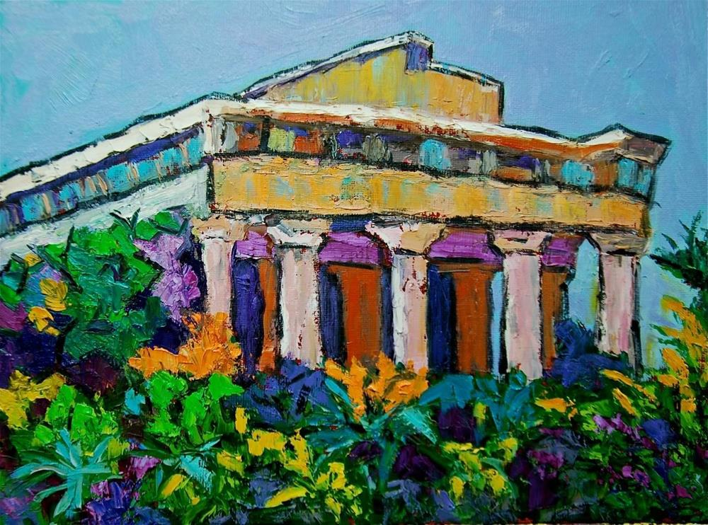 """Temple Hephaestus in Athens"" original fine art by Liz Zornes"