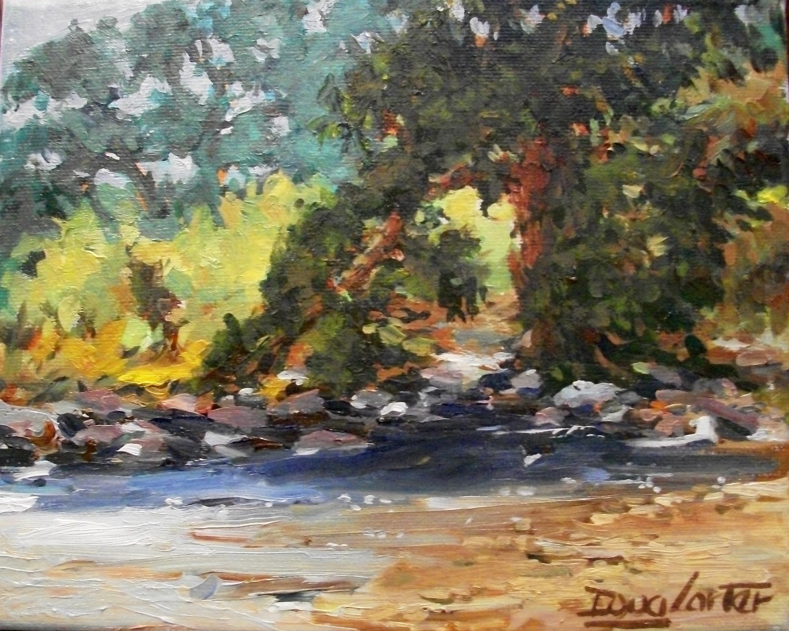 """RIVER BANK"" original fine art by Doug Carter"