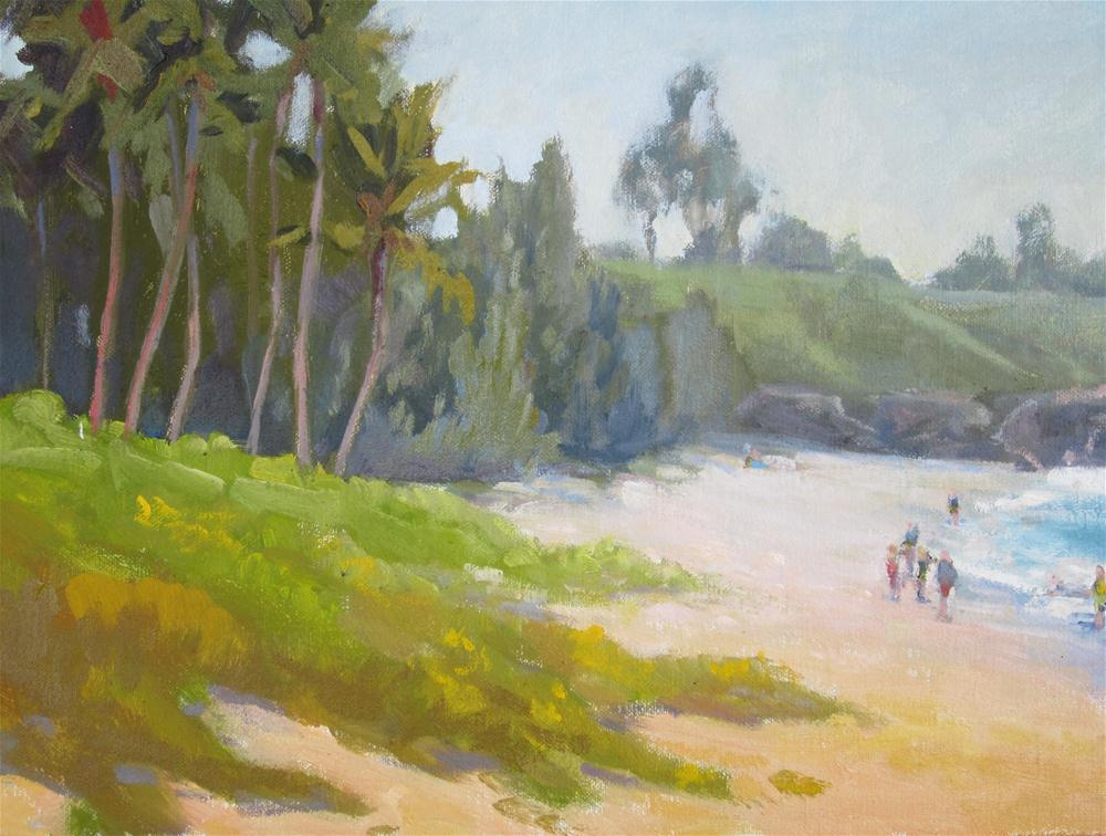 """Surf at Kapalua"" original fine art by Leigh Alexandra Sparks"