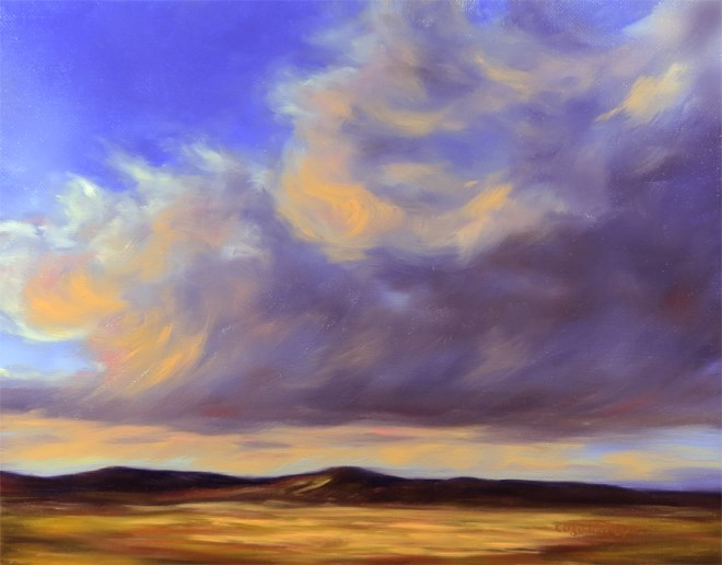 """Waves of Gold"" original fine art by Carol Zirkle"