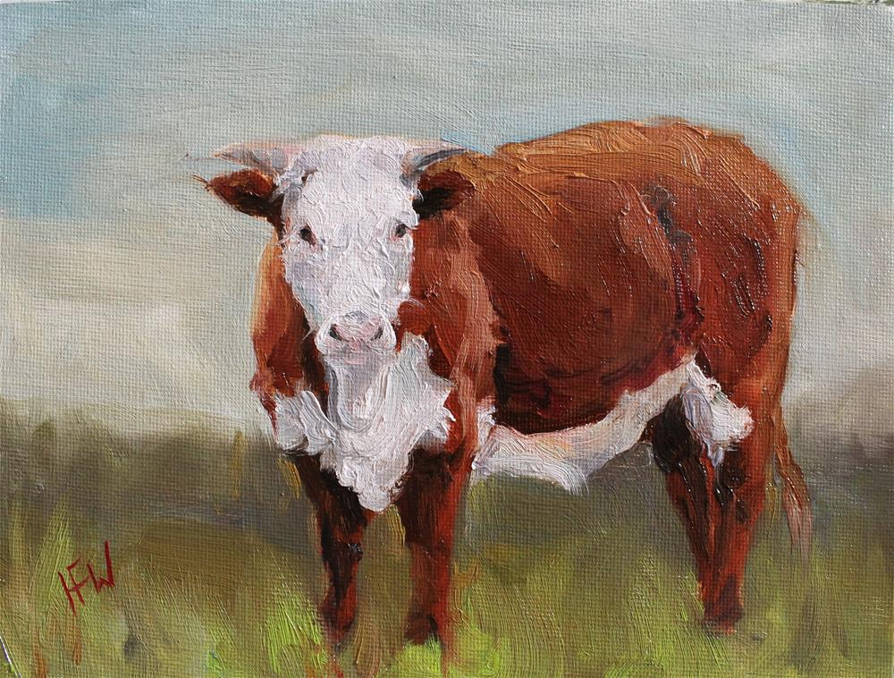 """Shorthorn"" original fine art by H.F. Wallen"