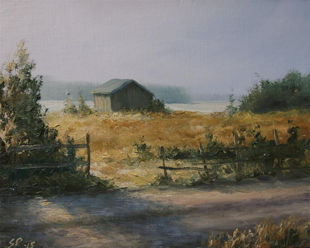 """Early morning light"" original fine art by Stig Rosenlund"