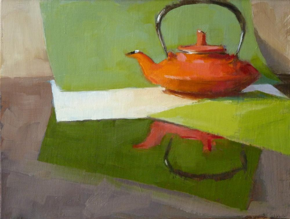 """Iron Tea Kettle"" original fine art by Ron Ferkol"