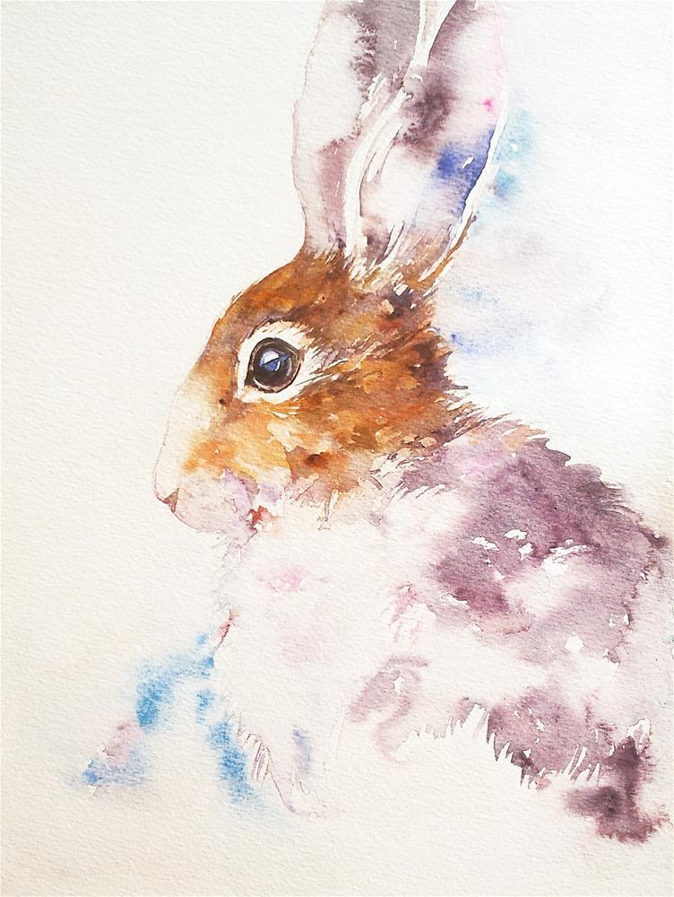 """Bella the Bunny"" original fine art by Arti Chauhan"