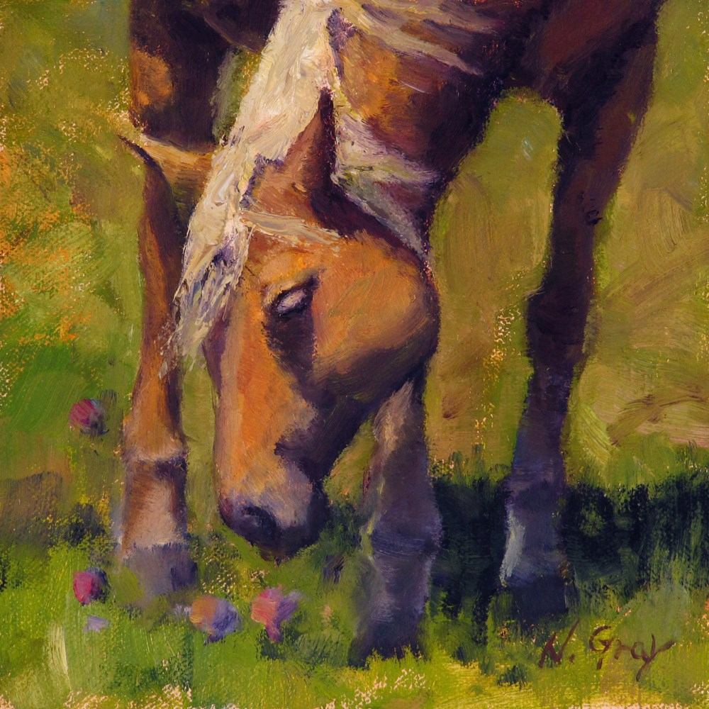 """Blondie the Horse"" original fine art by Naomi Gray"
