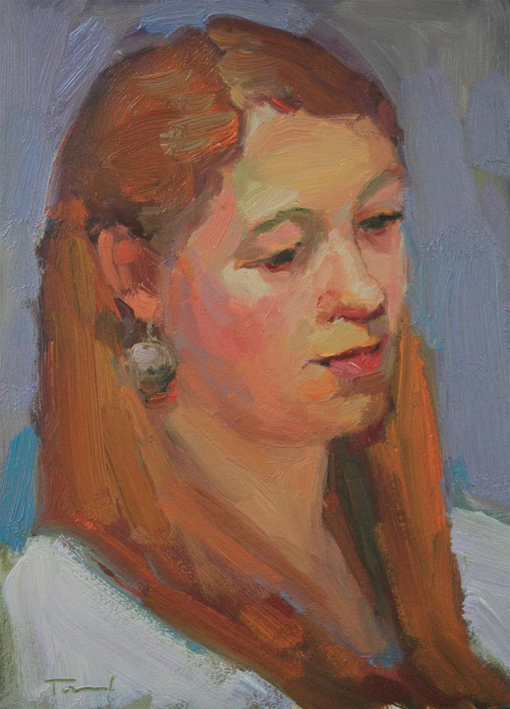 """Portrait Study #23"" original fine art by Kathryn Townsend"