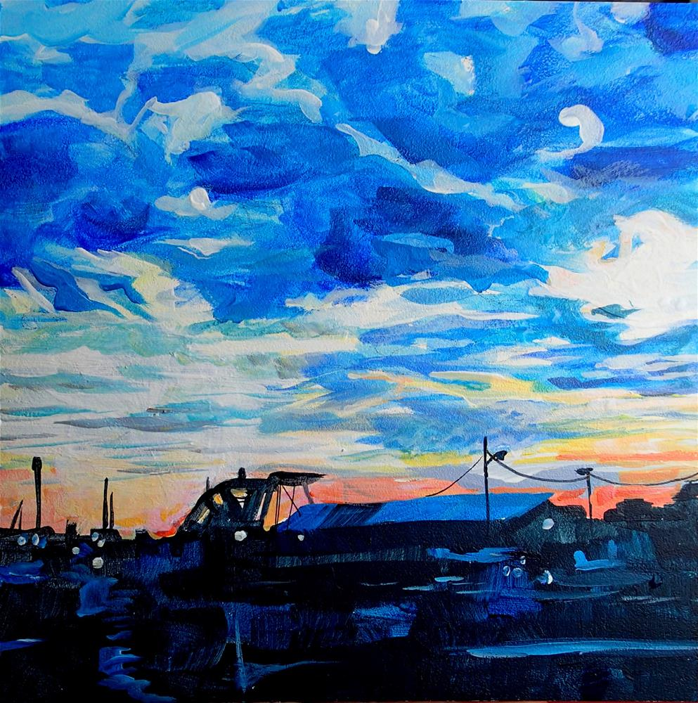 """Night Sky in Ocean City, New Jersey"" original fine art by Lauren Kuhn"