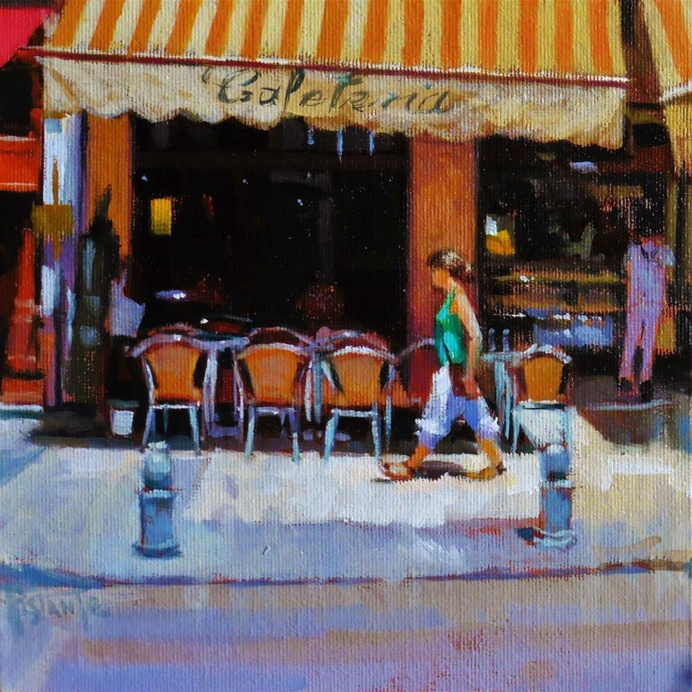 """Cafe Lisboa"" original fine art by Víctor Tristante"