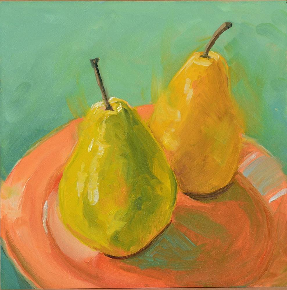 """Pair of Pears"" original fine art by Jan Jackson"