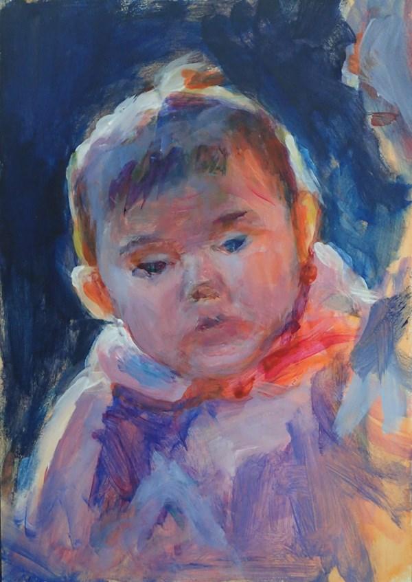 """Backlit Baby"" original fine art by Sharon Savitz"