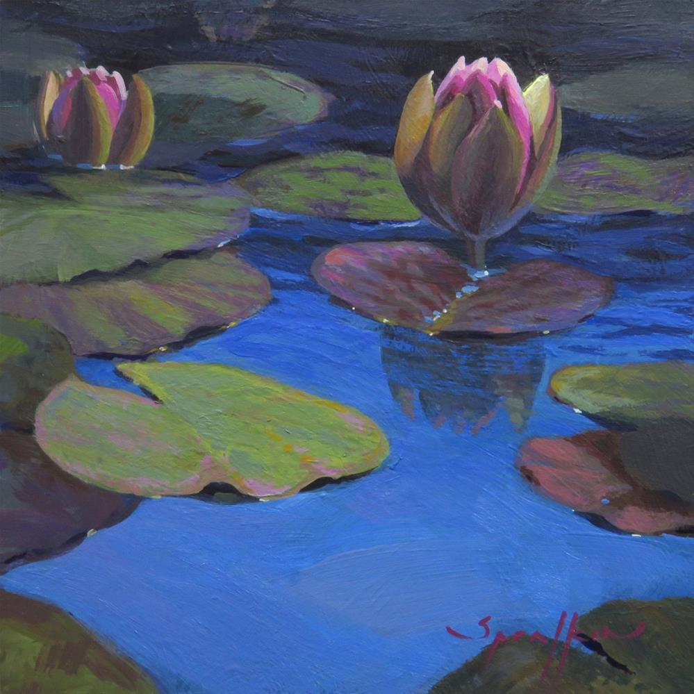 """Mission Lilies"" original fine art by Edward Sprafkin"