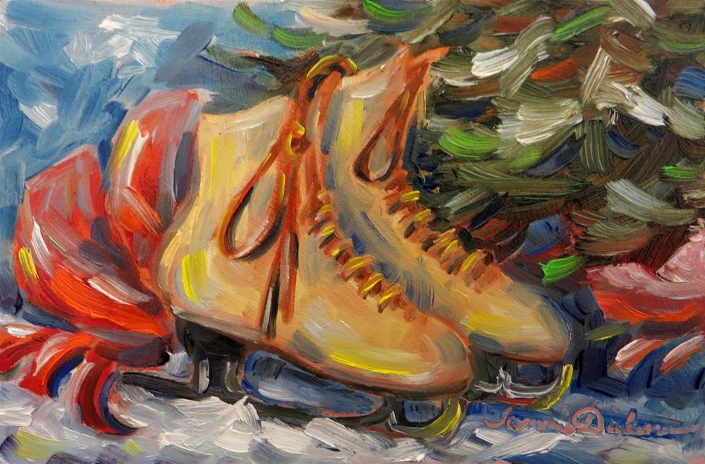 """Holiday Skates"" original fine art by Tammie Dickerson"