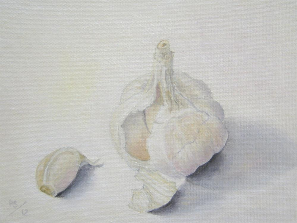 """Garlic VI"" original fine art by Pera Schillings"